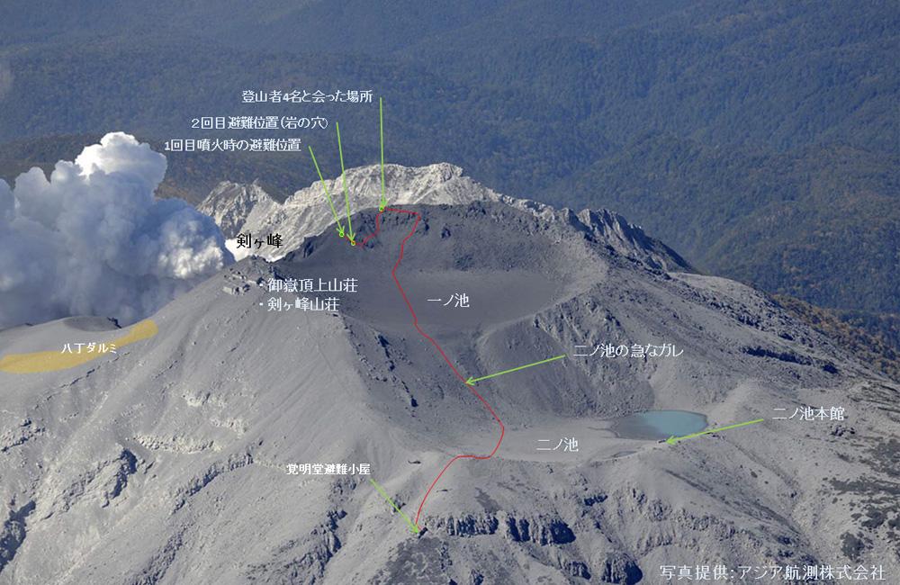 噴火 遺体 山 御嶽